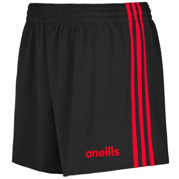GAA Shorts Mourne Black Red O'Neills