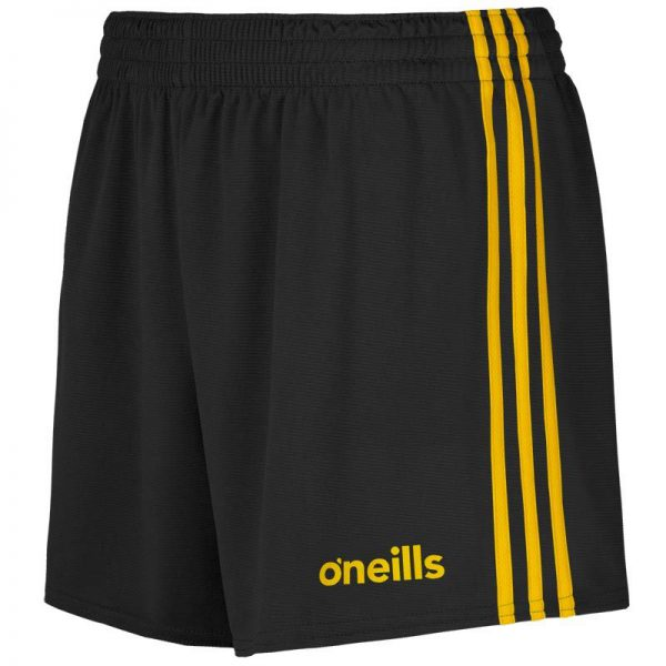 O'Neill's GAA Shorts Black and Amber Colgan Sports