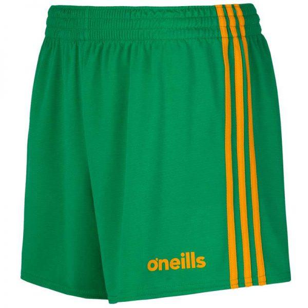 O'Neill's GAA Shorts Green and Amber Colgan Sports