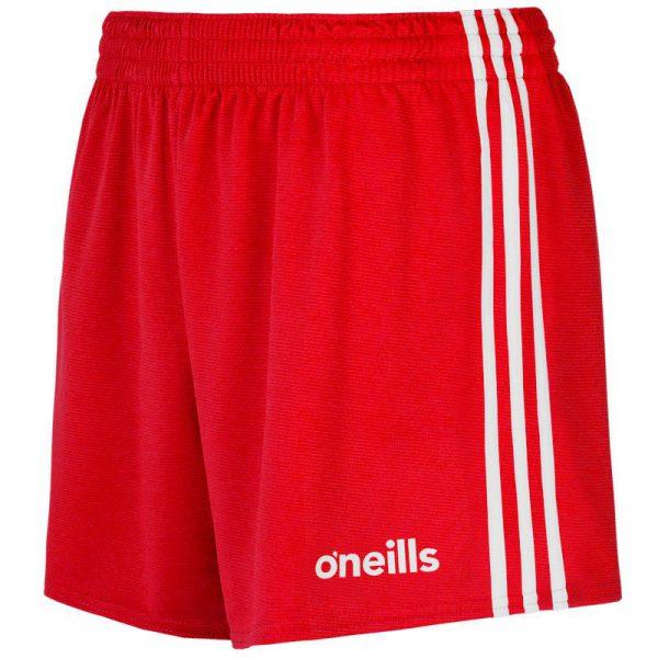 GAA Shorts Red and White O'Neills Colgan Sports