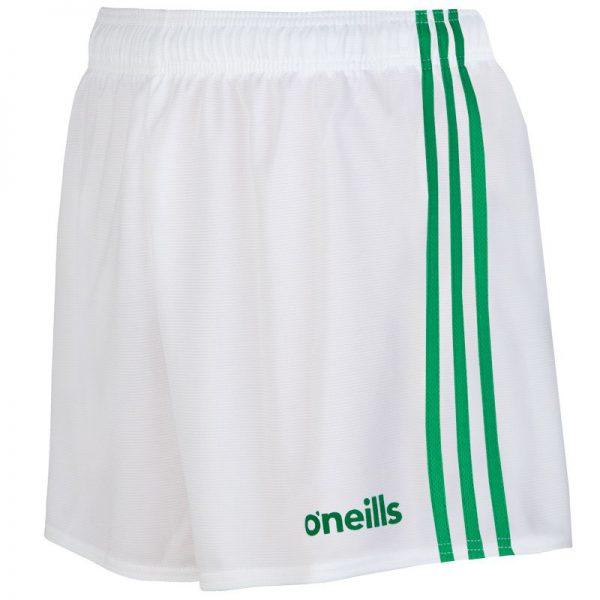 O'Neill's GAA Shorts White and Green Colgan Sports