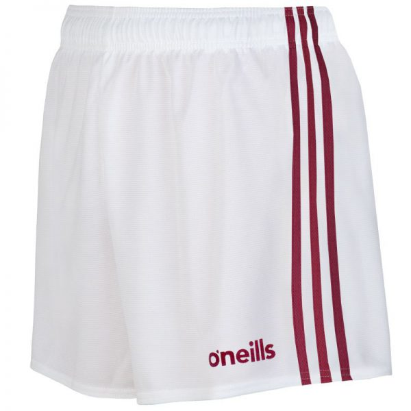 O'Neill's GAA Shorts Maroon and White Colgan Sports