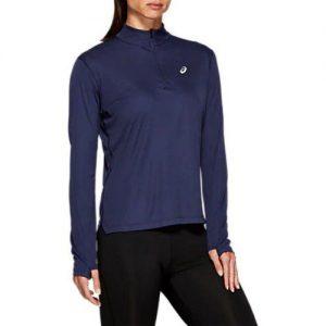Asics Silver Long Sleeve 1/2 Zip Top Ladies