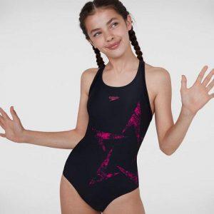 Speedo Junior Girls Boomstar Flyback Swimsuit