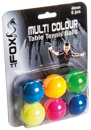Fox TT Coloured Table Tennis Balls (Pack of 6)
