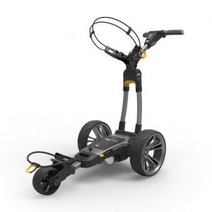 Powakaddy CT6 Electric Trolley Gun Metal with 18 Hole Lithium Battery