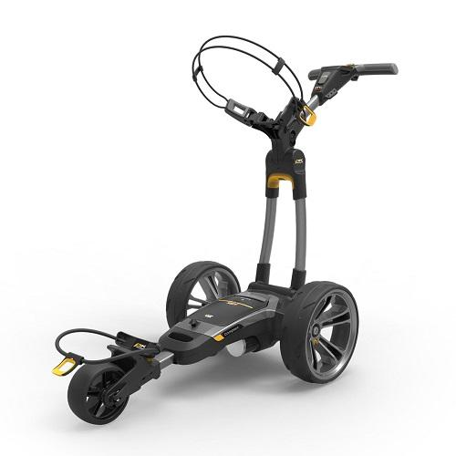 Powakaddy CT6 GPS Electric Trolley Gun Metal with 18 Hole Lithium Battery