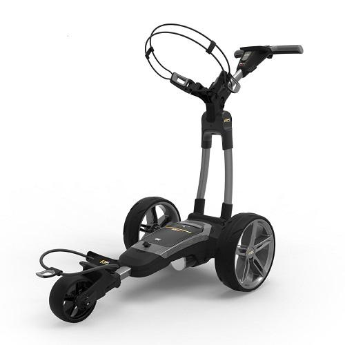 Powakaddy FX7 GPS Electric Trolley Gun Metal with 18 Hole Lithium Battery