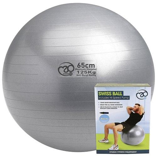 Yoga-Mad 125kg Swiss Gym Ball & Pump Colgan Sports