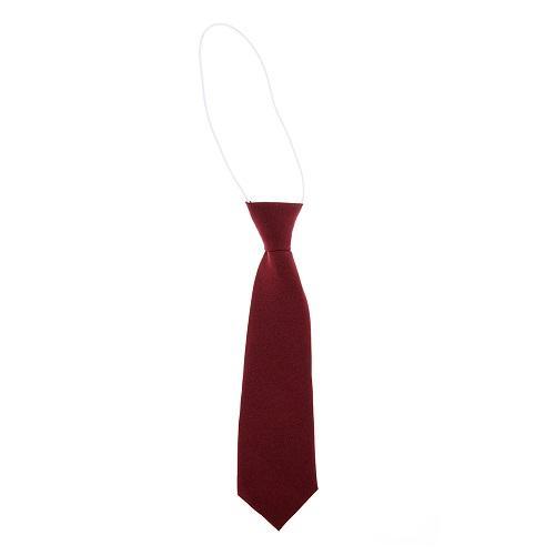School Single Colour Elastic Tie Wine