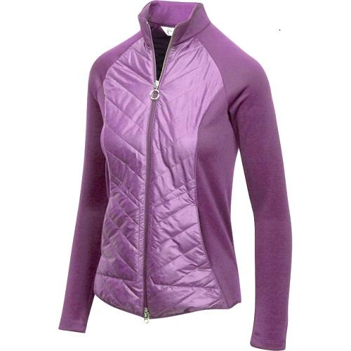 Greg Norman Ladies Chevron Quilted Cire Jacket