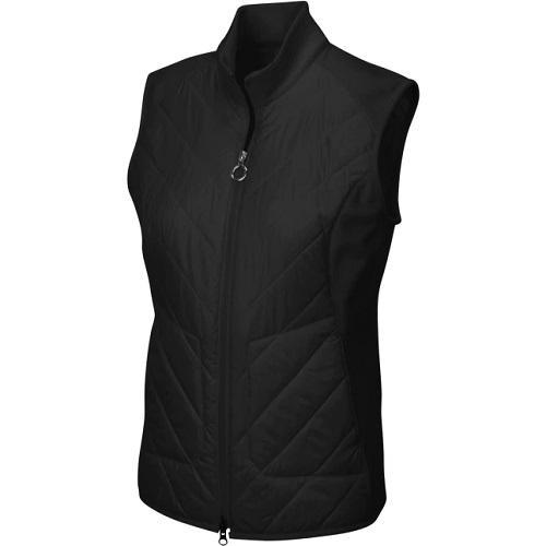 Greg Norman Ladies Chevron Quilted Cire Vest