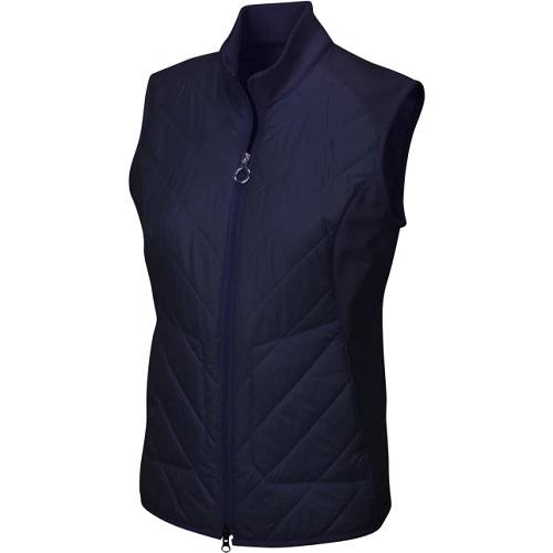 Greg Norman Ladies Chevron Quilted Cire Vest