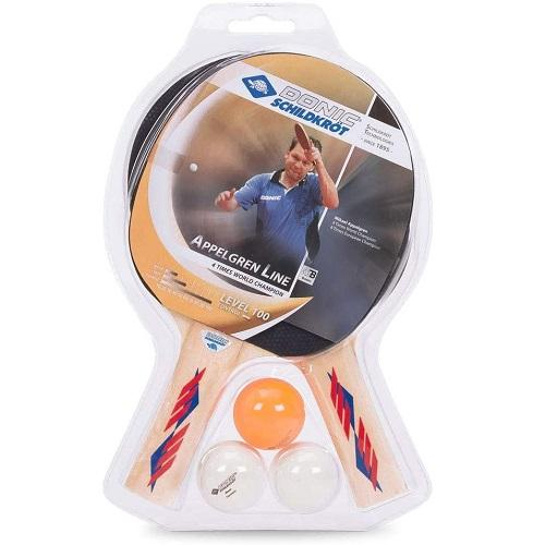 Donic Schildkrot Appelgren Level 100 2-Player Table Tennis Set with Flex Net