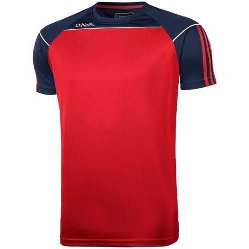O'Neills Aston T-Shirt Red / Marine / White