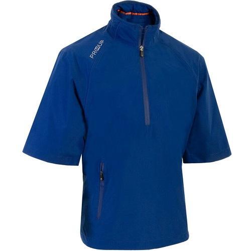 Proquip Men's Tempest Half Sleeve Quarter Zip Waterproof Seam Sealed Golf Top Surf Blue