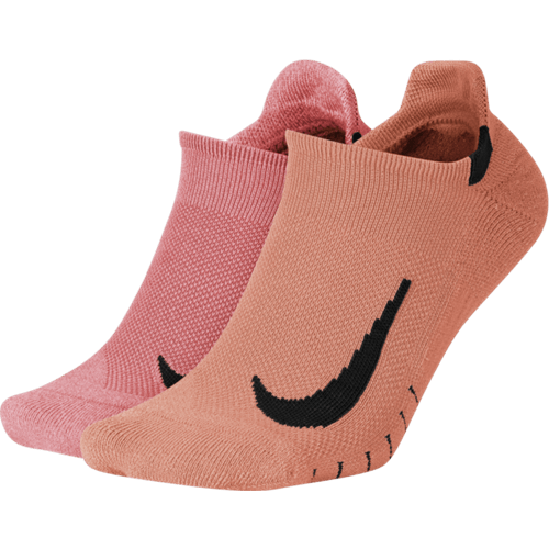 Nike Multiplier Running No-Show Socks (2 Pairs)