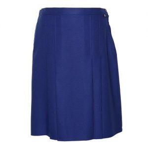 T22 Lined Box Pleated School Skirt Royal Colgan_Sports