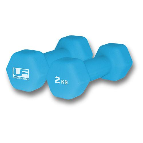 Urban Fitness Hex Dumbbells - Neoprene Covered 2kg Colgan Sports
