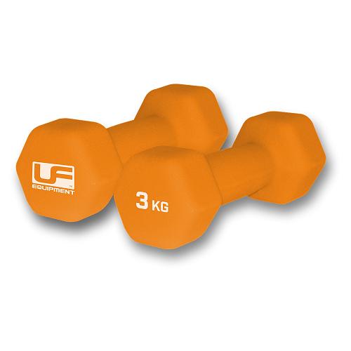 Urban Fitness Hex Dumbbells - Neoprene Covered (Pair) 3kg