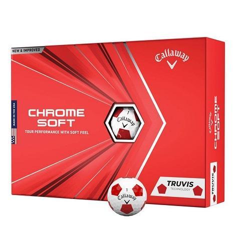 Callaway Chrome Soft Truvis Red Golf Balls Colgan Sports