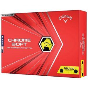 Callaway Chrome Soft Truvis Yellow Golf Balls Colgan Sports