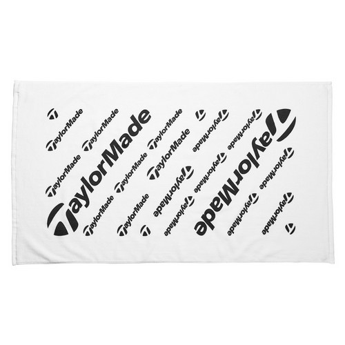 "TaylorMade Golf Tour White Large Cotton Golf Towel 24"" x 42"""