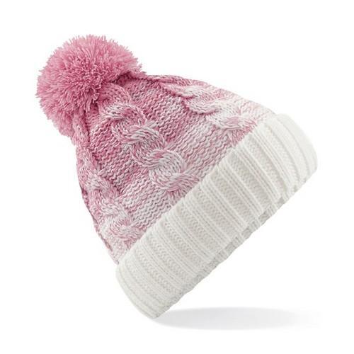 Ombré Beanie Dusky Pink/Off White Colgan Sports