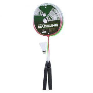 Baseline 2 player badminton racket shuttlecock set Colgan_Sports