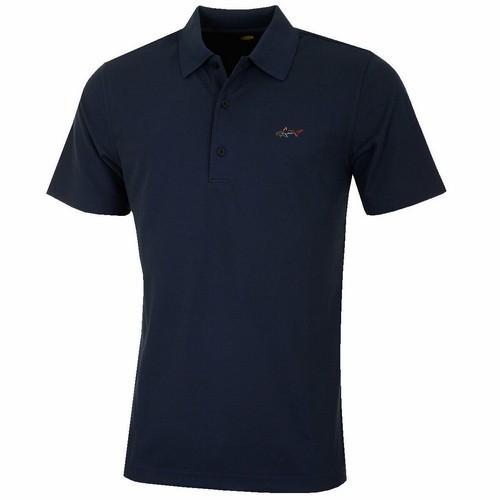 Greg Norman Performance Micro Pique Polo Shirt - Navy Colgans_Sports
