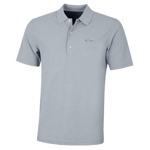 Greg Norman Performance Micro Pique Polo Shirt – Sterling Silver Colgan_Sports