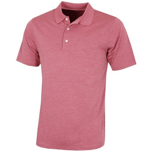 Greg Norman Subtle Heather Perf Polo Shirt - Slate Rose Colgan_Sports