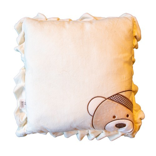 Cream Teddy Cushion Colgan_Sports