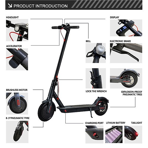 SURG City S Electric Scooter Colgan_Sports