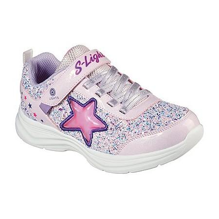 Skechers Girl's Glimmer Kicks Starlet Shine Sneaker 302310L-PKLV Colgan_Sports_and_Golf
